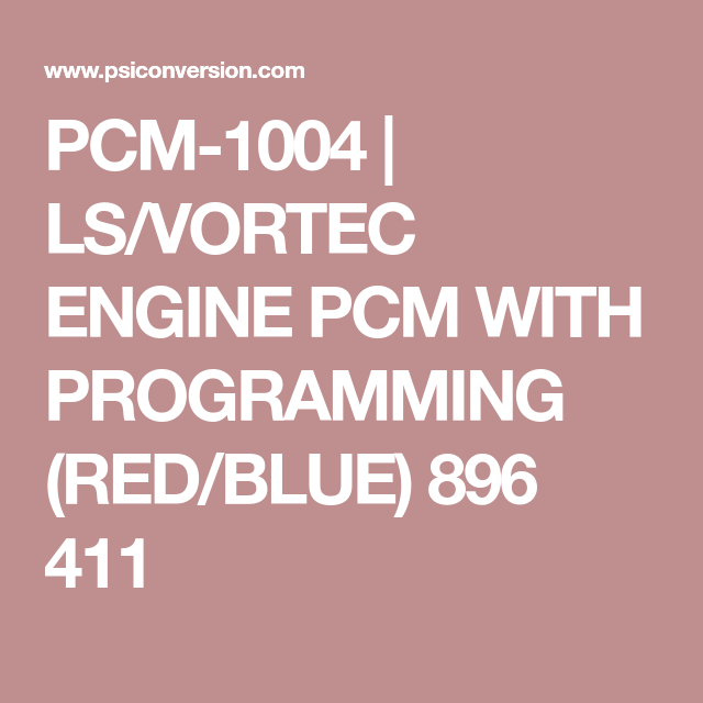 Ls/vortec engine pcm programming service - customer supplied pcm