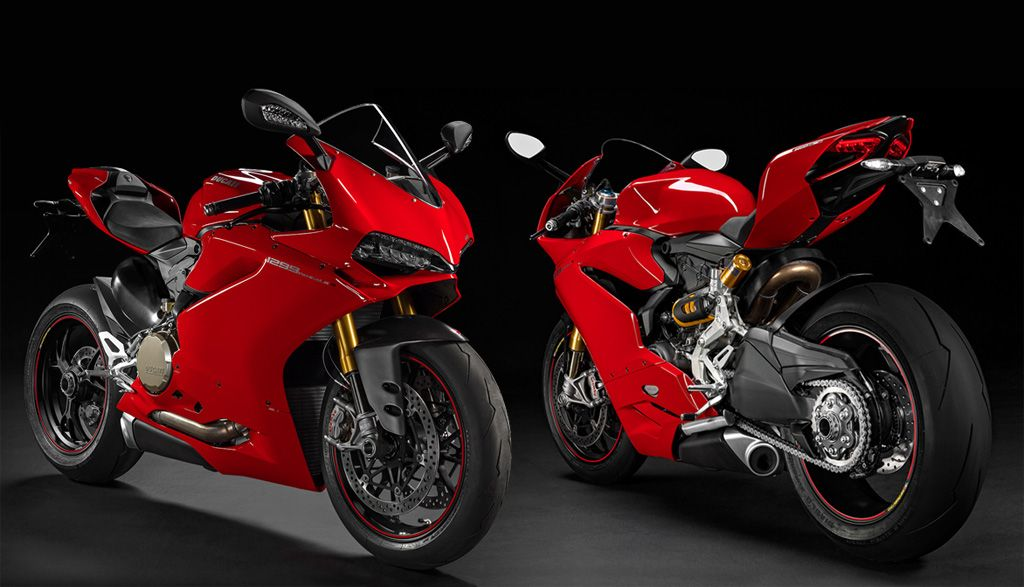 Lorelai's 2015 Ducati 1299 Panigale S at home in her garage - Ducati custom painted it black and titanium for her tho