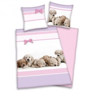 Bettwasche Young Collection Fur Kids Motiv Hunde Bettwasche