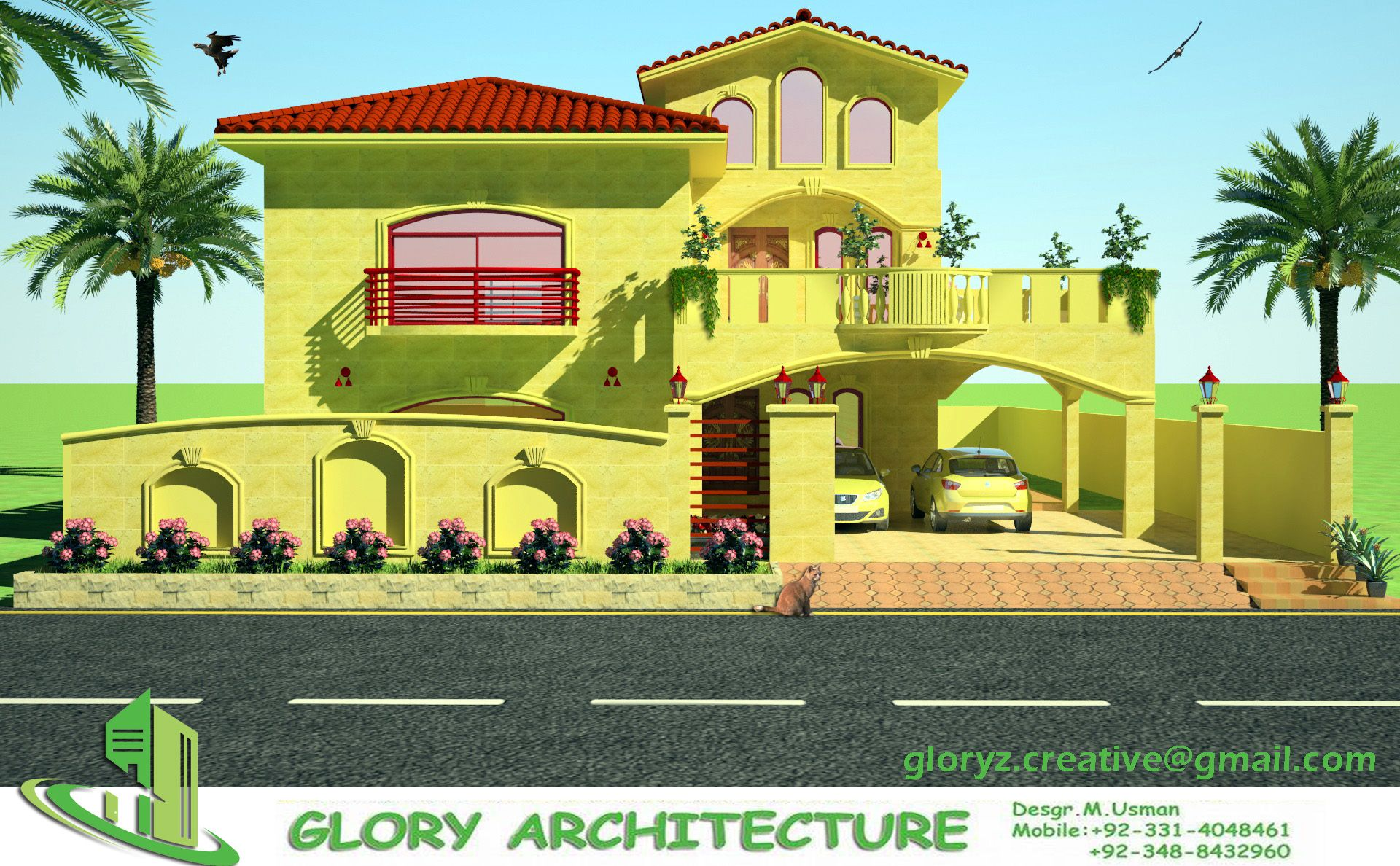 3D front view G 15 islamabad house map and drawings Khayaban-e ...
