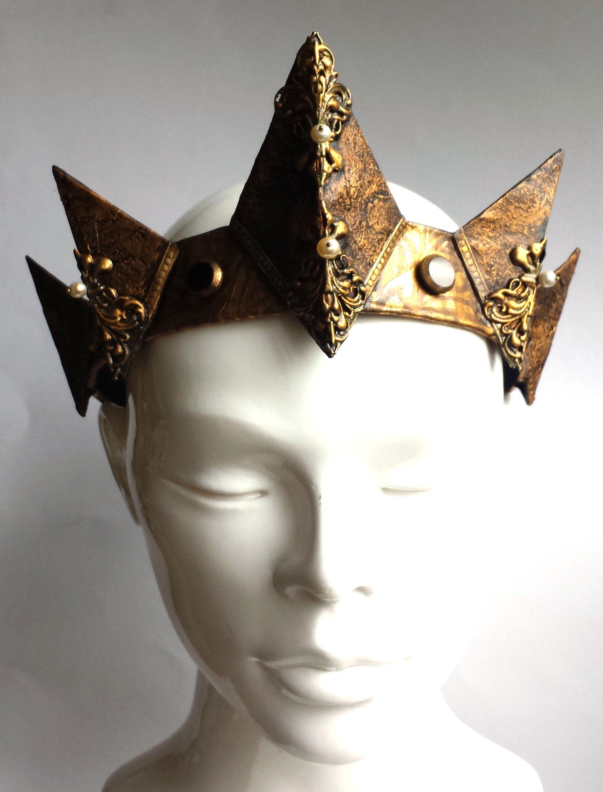 crown gold bronze man gothic old king women medieval fantasy