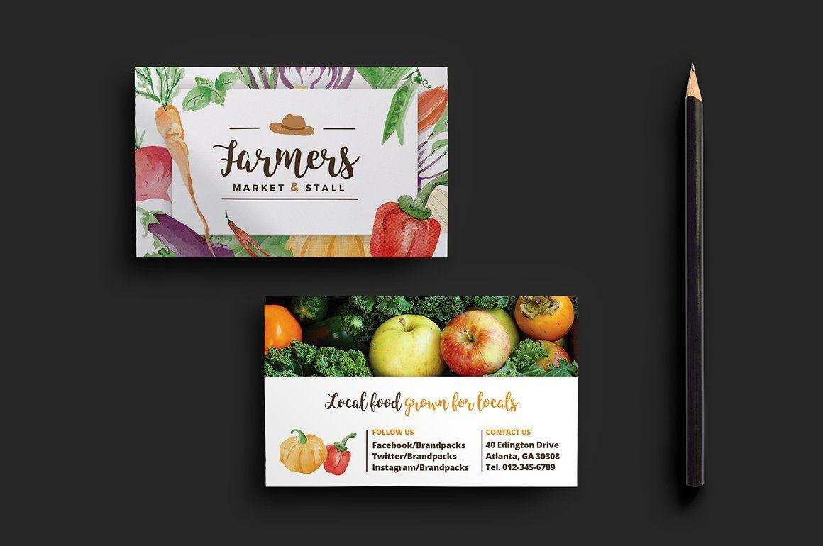 Farmers Market Business Card Fashion Business Cards Business Cards Printable Business Cards