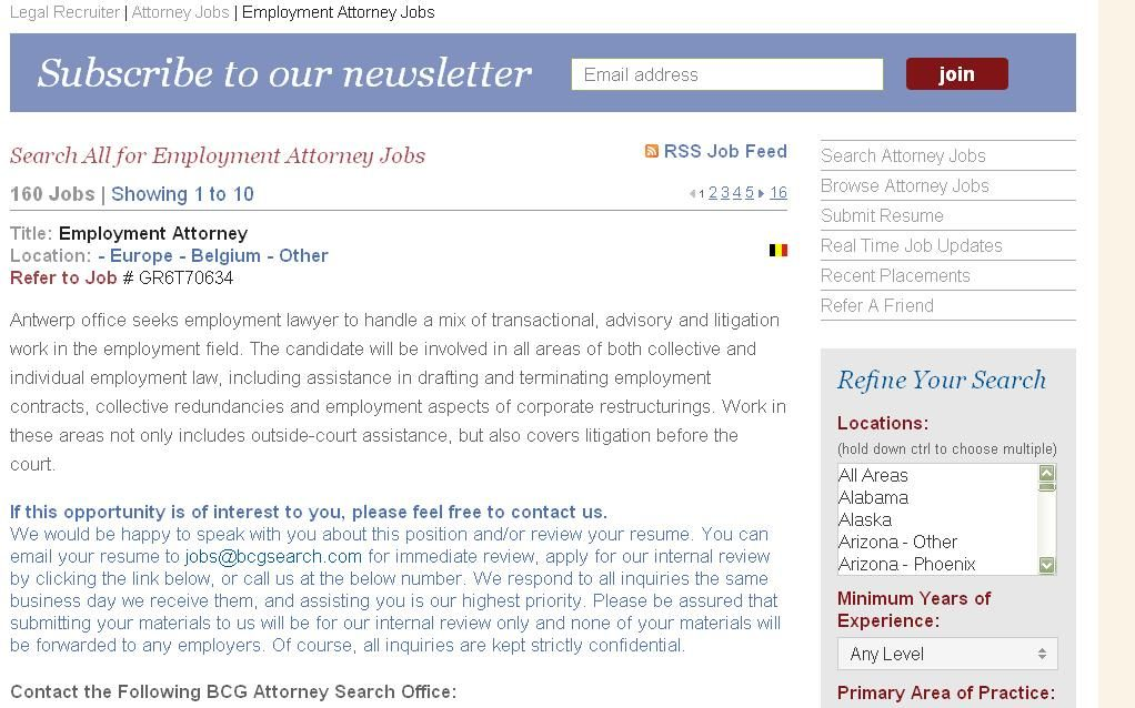 Employment attorney jobs listings attorneys job employment