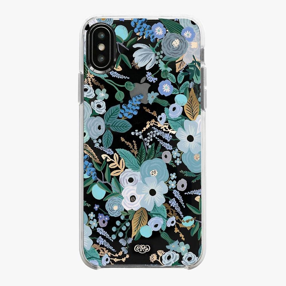 Garden party blue iphone xs case in 2020 cheap phone