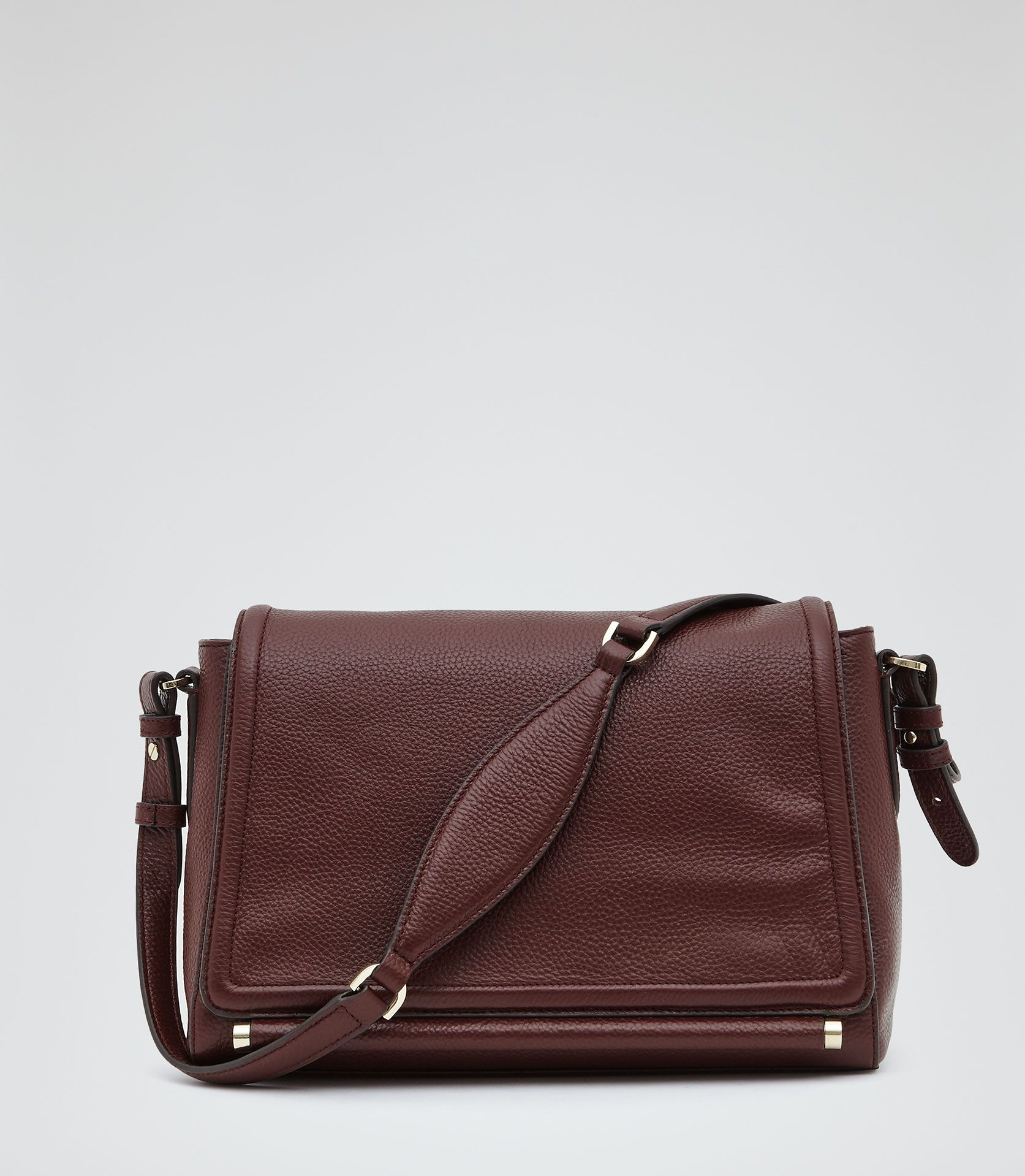 Womens Burgundy Leather Shoulder Bag - Reiss Sahara | Give me more ...