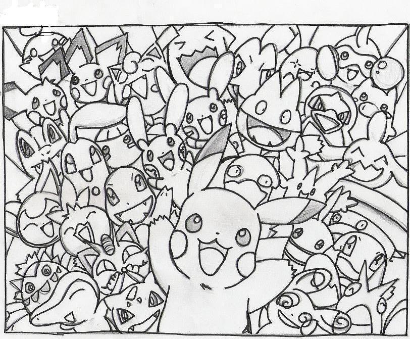 Dibujos De Pokemon En Color: Pin De Aly En Videojuegos