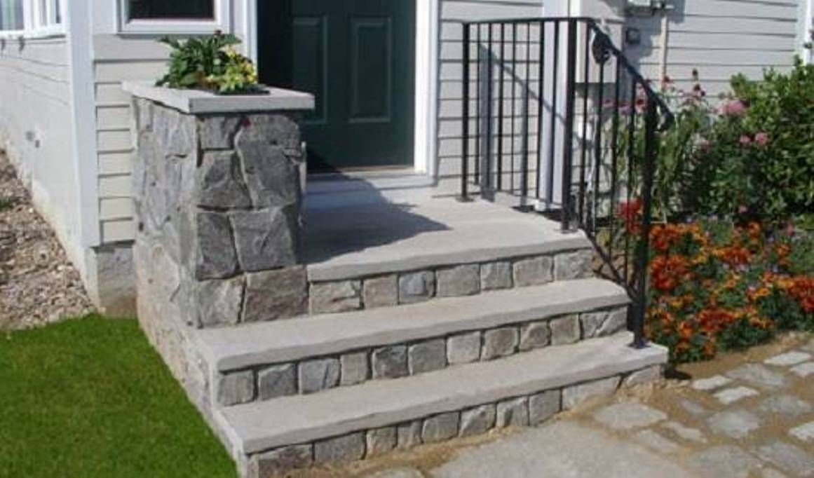 Concrete Prefab Outdoor Step Design For House Outdoor Step   Premade Steps For Outside   Handrail   Wood   Stair Railing   Deck   Wooden