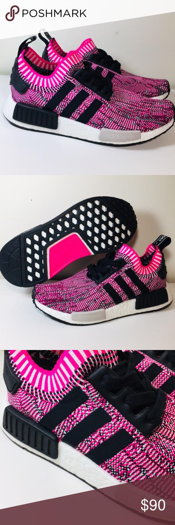 5d368506c Adidas NMD R1 PK Primeknit Boost sneaker Pink Rose New Adidas Womens NMD R1  PK Primeknit