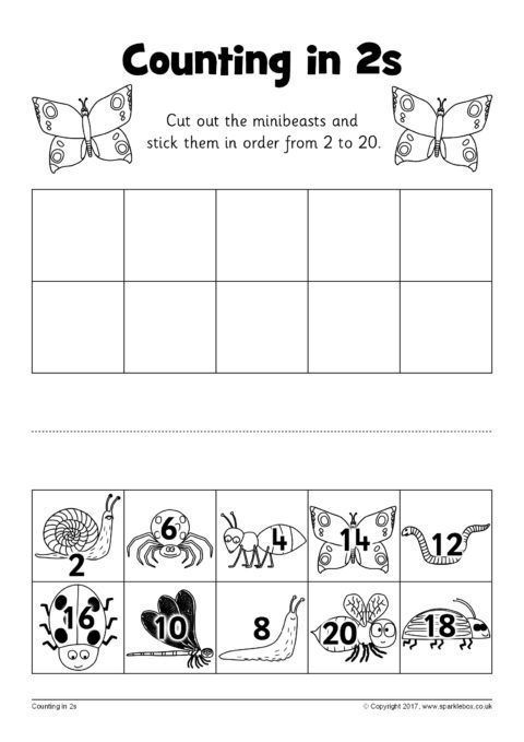 Counting in 2s Cut and Stick Worksheets (SB12254) - SparkleBox ...