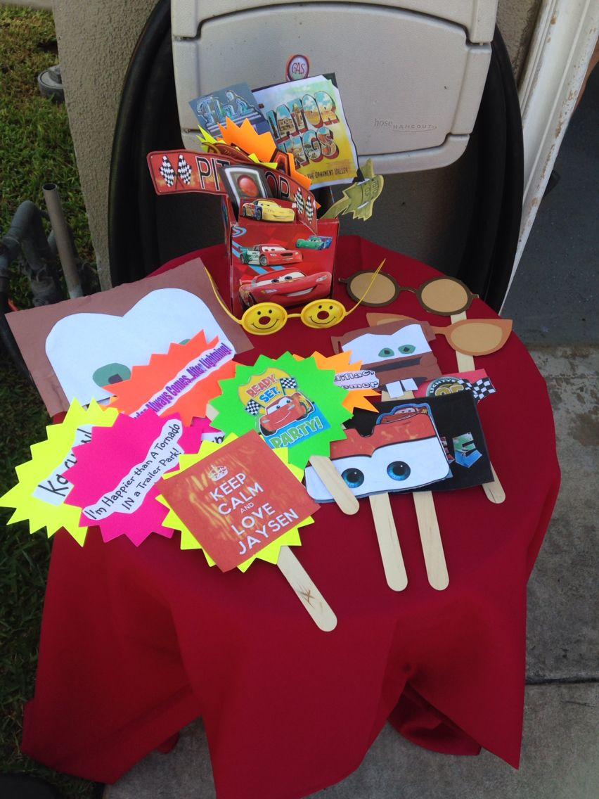 Cars Photo Booth Props Disney Cars Birthday Party Disney Cars