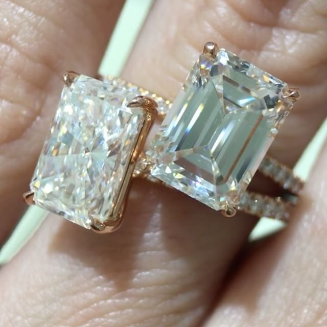 6eb8ec37af764 This really shows the difference of the Radiant Cut vs Emerald Cut ...