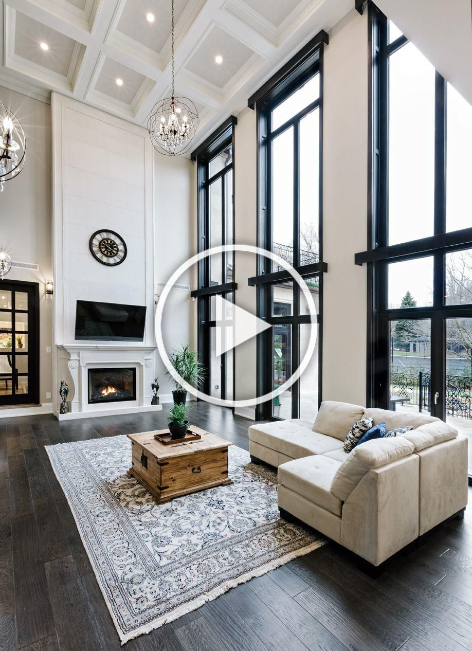 Elegant Sitting Room With An Interior Fireplace By Gonell Homes