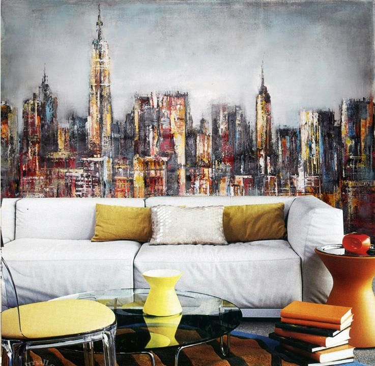 You Yang Large Mural Wallpaper Living Room Bedroom Den Personalized Painting City Impression Bar