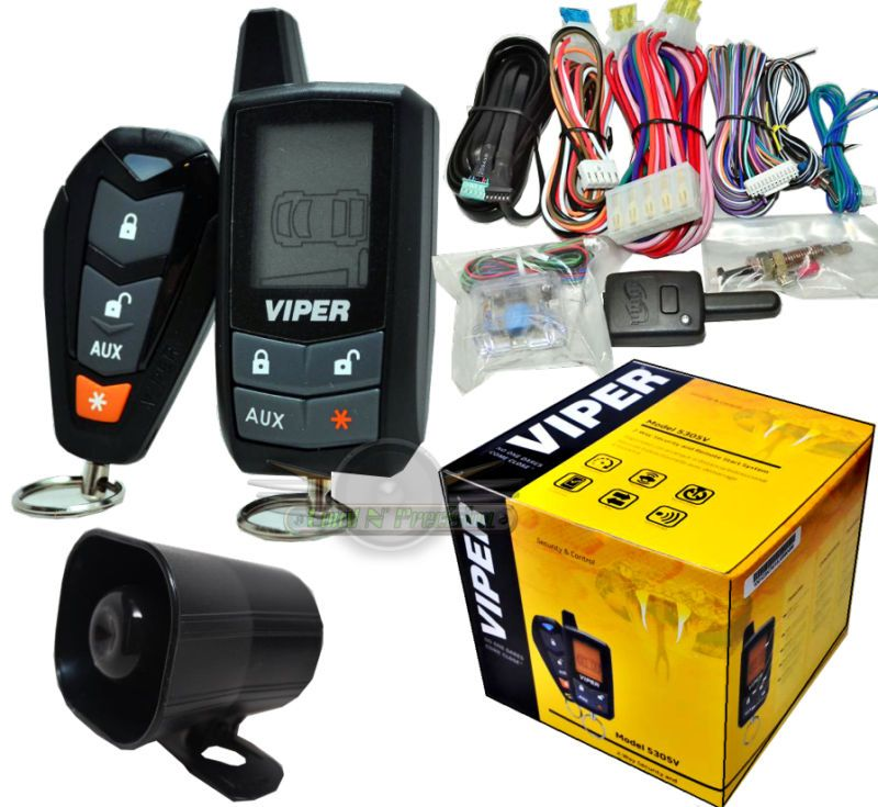 Viper 5305v Car Alarm Doorbell Wire Diagram 2 Way Security System And Remote Start New 5305 Alarms Combos Paging Electronics