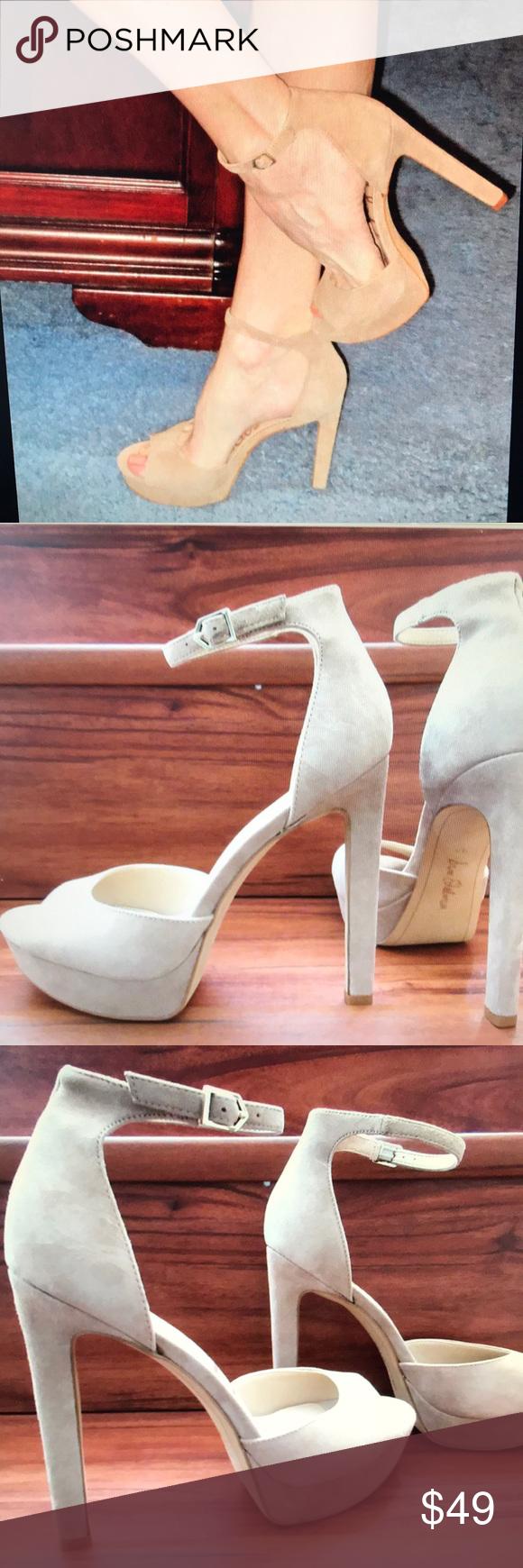 "bfa26c78888 SAM EDELMAN WALLACE SUEDE ANKLE STRAP SANDAL 9.5 New in box. 5.5"" heel with  1"" platform. Sam Edelman Shoes Heels"