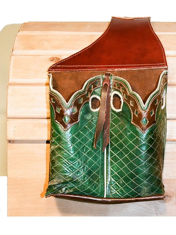 Saddle Bags With Boot Tops Sewing Leather Leather Saddle Bags Cowboy Boot Crafts