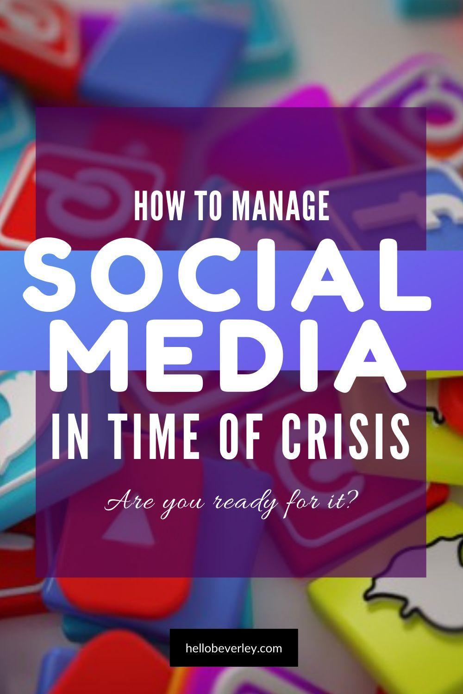 Handling A Crisis On Social Media Social Media Strategist Social Media Infographic Learn Social Media