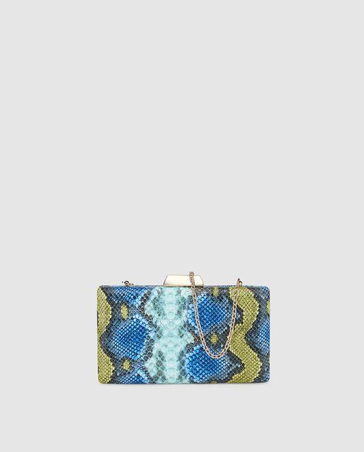 De Y En Azules Tonos Estampado Con Clutch Serpiente VerdesBolso oxdCrBe
