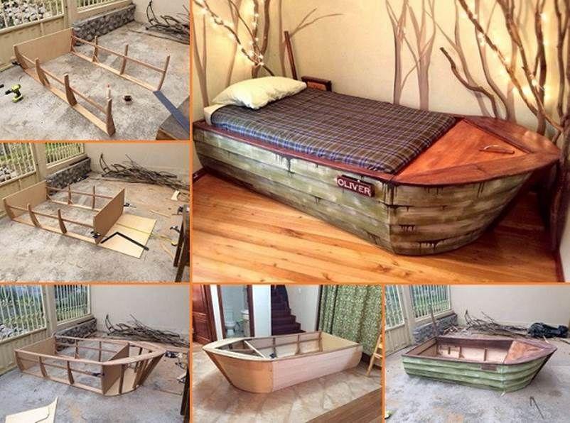 Creative Diy King Size Bed Crafty Ideas Boat Bed Diy Boat