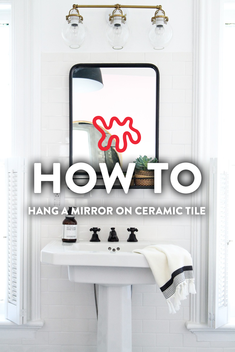 How to hang a bathroom mirror on ceramic tile bathroom mirrors how to hang a bathroom mirror on ceramic tile dailygadgetfo Gallery