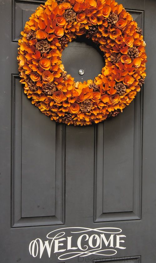 Fall Wreaths For Front Door Cheated And Bought The Wreath At Homegoods Recently I Couldn T