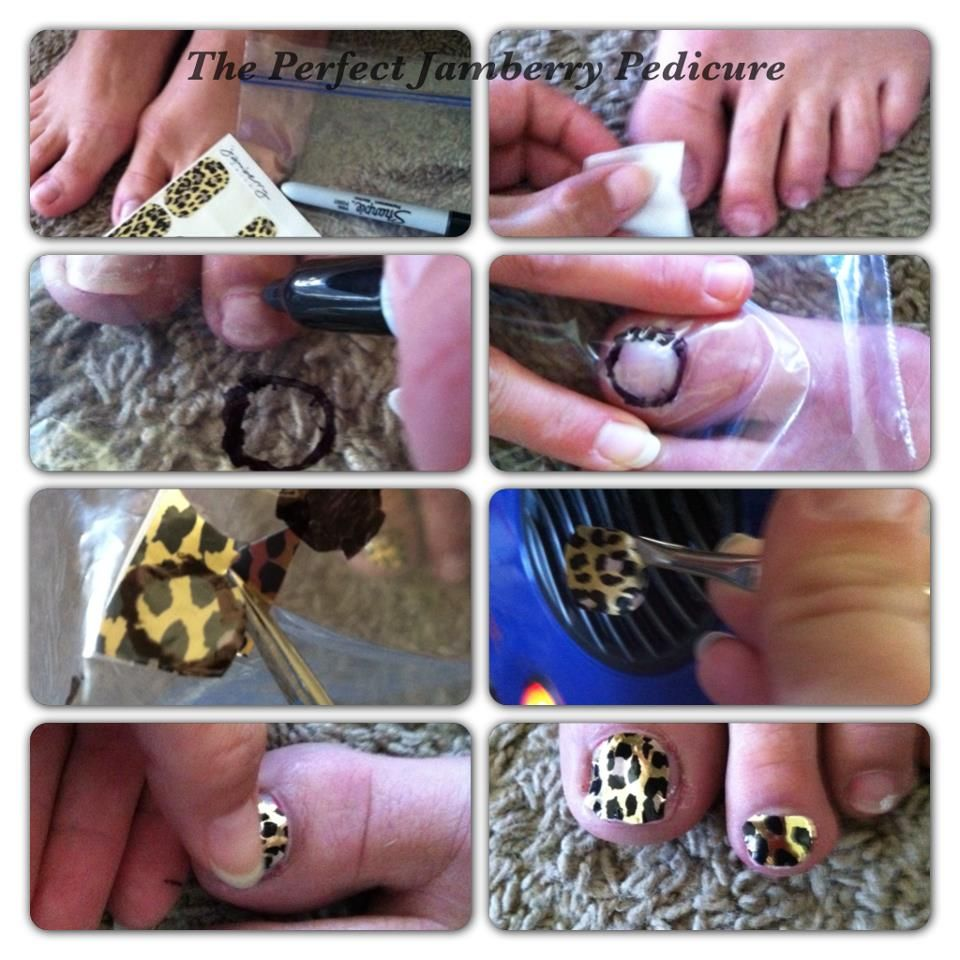For the perfect Jamberry Pedicure: 1.Clean/dry toenails. Push back ...