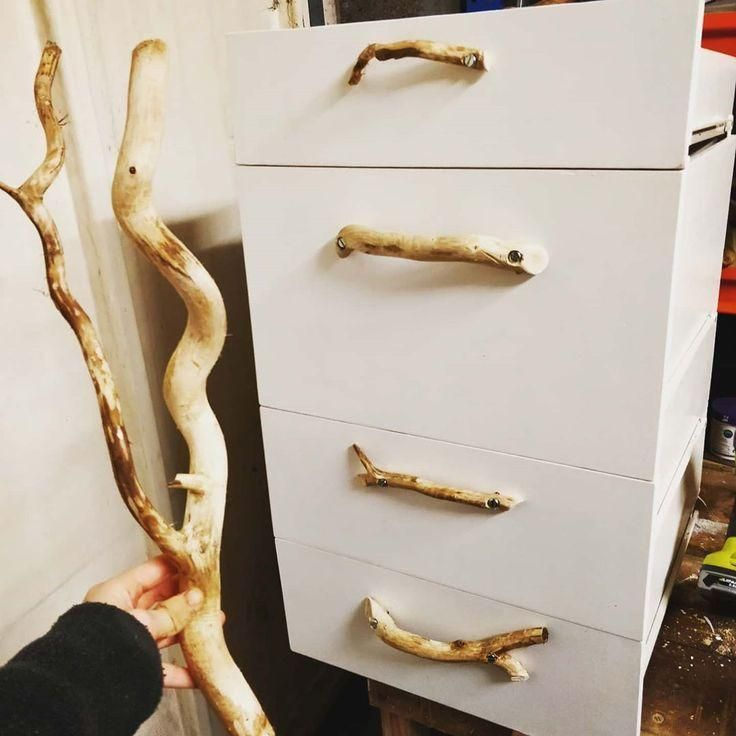 "#vanconversion  #vanlifetravels  #vanlife  #vanlifeexplorers…"" #Instagram: #""Used mary_hdodds on Instagram: ""Used some wobbly drift wood for the draw handles! ? What do you think? . . . . ."