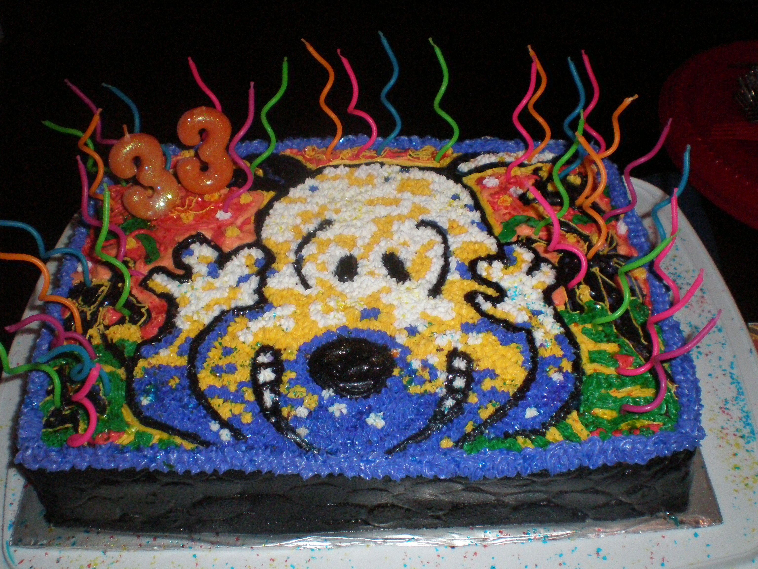 Snoopy Cake!!! Based on one of my favorite paintings by Tom Everhart