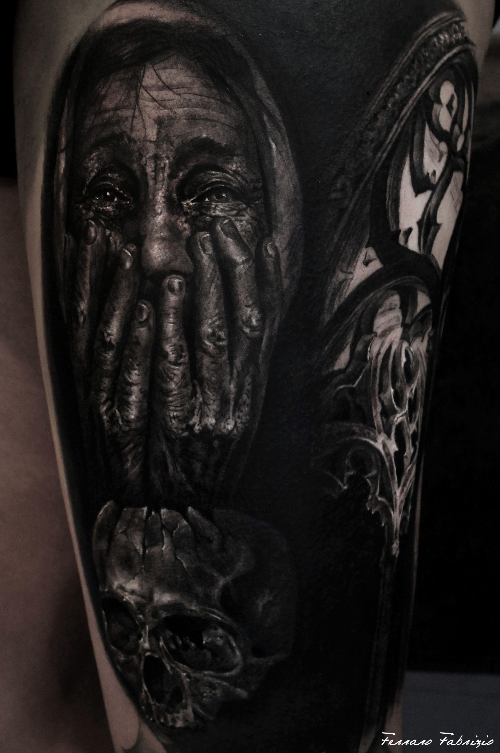 Realistic Tattoo Tattoo Portrait Tattoo Black Y Grey Tattoo