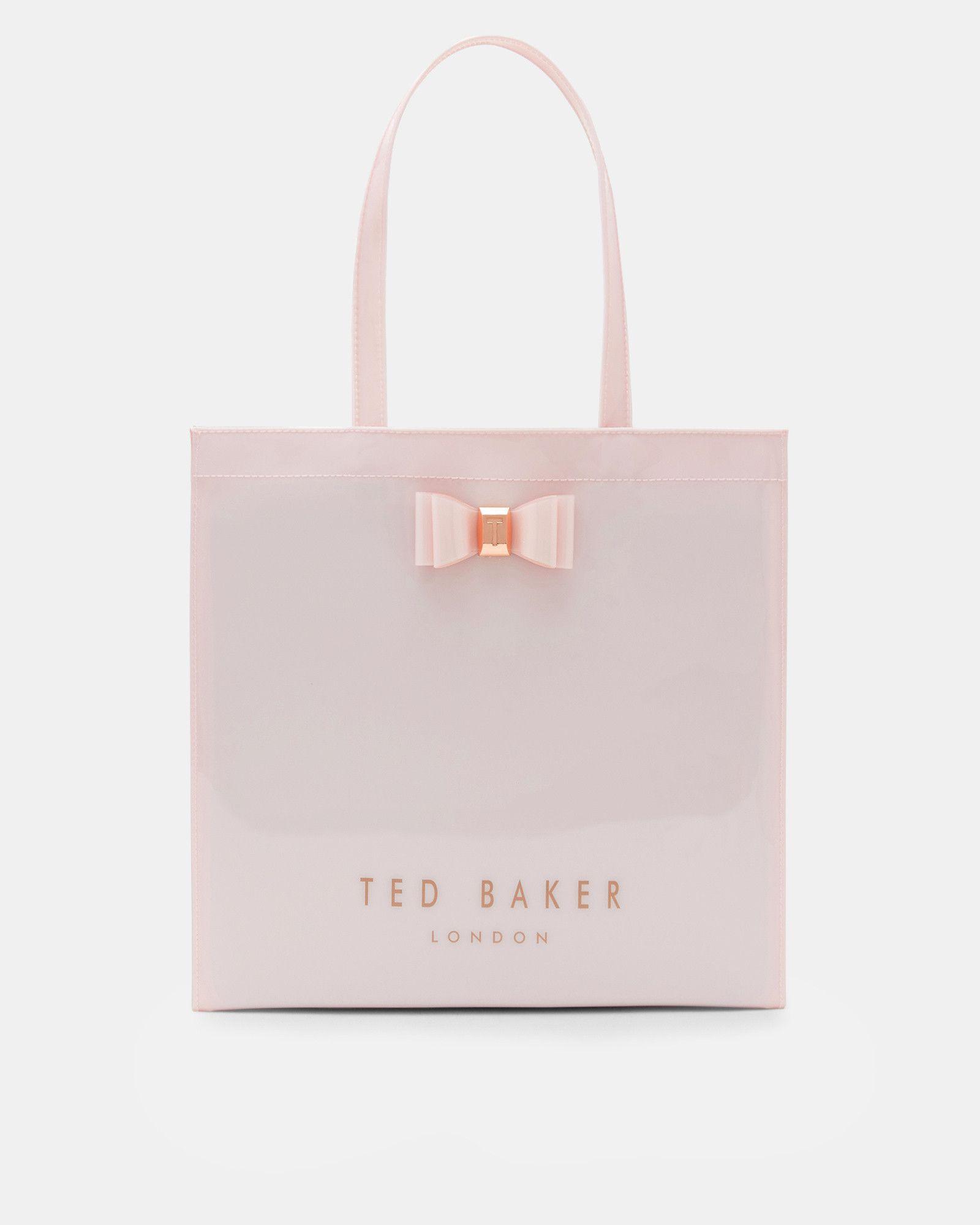 8a7386041265 Ted Baker Bow detail large shopper bag Dusky Pink