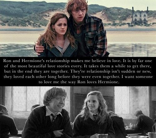 Exactly I Want A Love Like Ron And Hermione Harry Potter Ron And Hermione Harry Potter Obsession Harry Potter Love