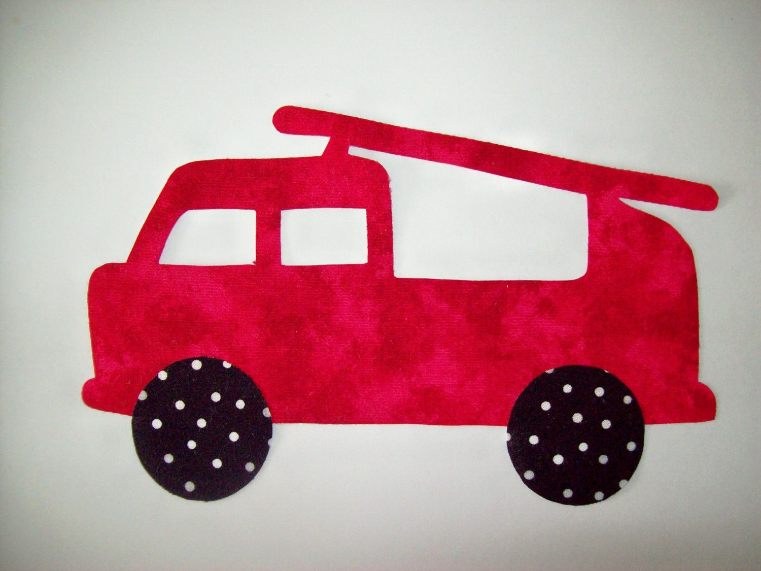 Fabric Applique TEMPLATE ONLY Fire Engine Truck by etsykim on Etsy ...