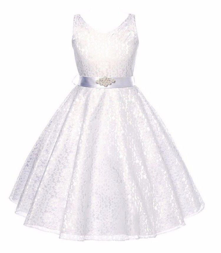 7c24e1f78d78 detské spoločenské šaty biele - šaty pre družičku