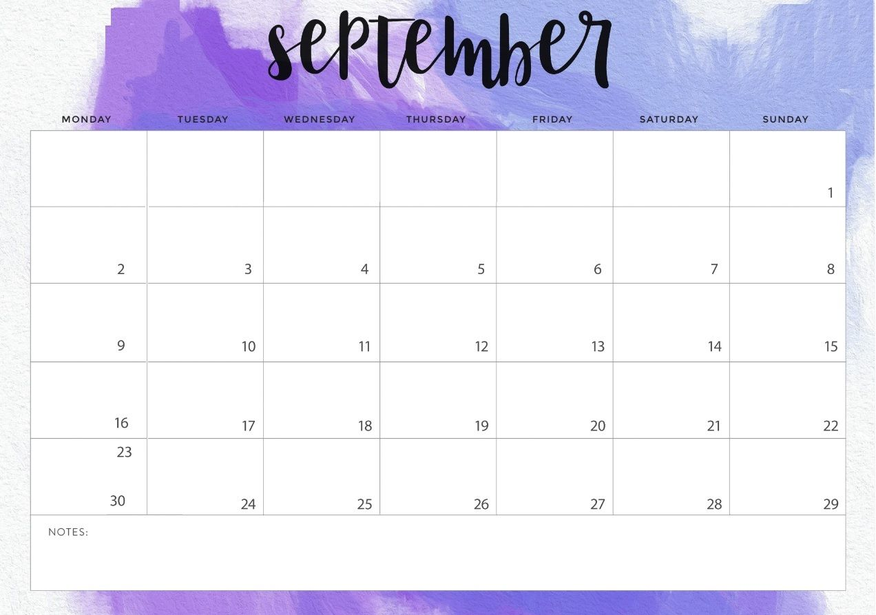 September 2019 Desk Calendar Template Calendar Printables Desk