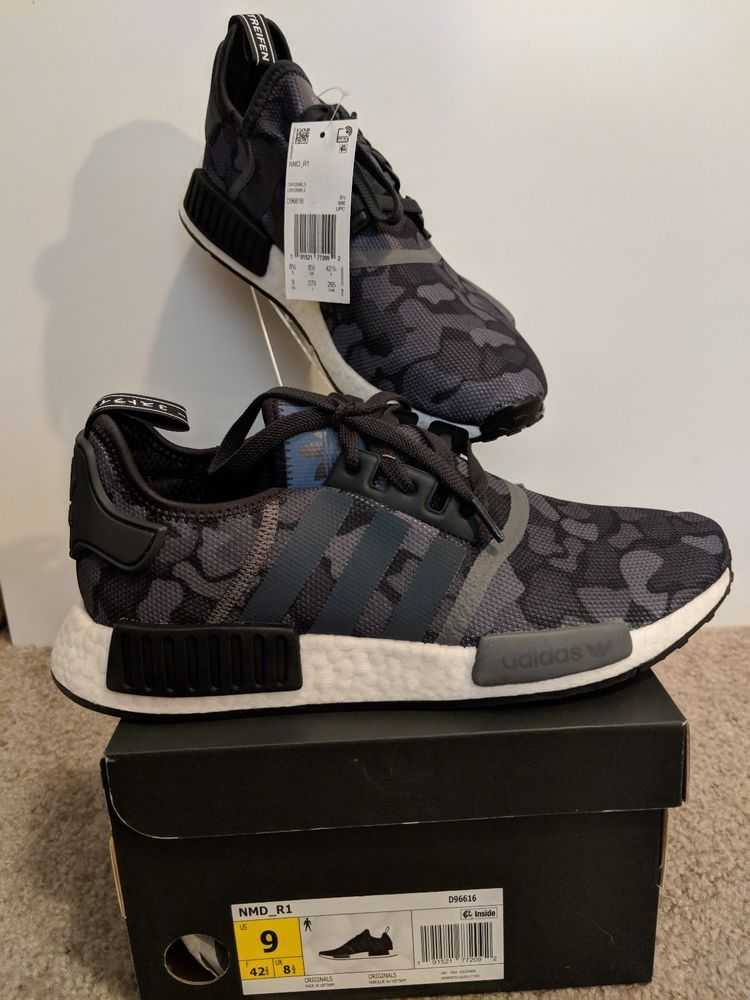 d21d60a68 Adidas NMD R1 Dark Camo Core Black Grey Grey Men s Sz 9 D96616  fashion   clothing  shoes  accessories  mensshoes  athleticshoes (ebay link)