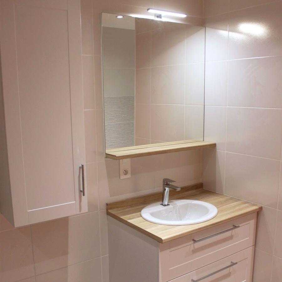 Valence  Petit meuble de salle de bains avec tiroir socle  Petit
