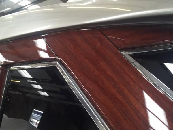 @WildGroup applied a wood effect #Vinyl to the exterior of this Italian 24m #Motoryacht. #DestyMarine have then applied a clear coating over the top, which really gives the effect of being wood. The end result is amazing and the shipyard are very pleased. #tranformyouryacht
