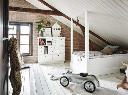 Leuke witte rustieke kinderkamer op zolder house pinterest