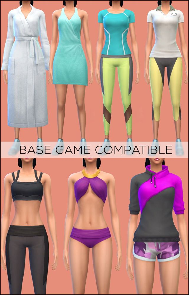 Conversion Base Game compatible Spa Day pack at Jenni Sims via Sims 4 Updates Check more at http://sims4updates.net/clothing/conversion-base-game-compatible-spa-day-pack-at-jenni-sims/