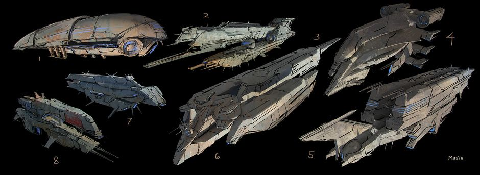 SpaceCraft sketches by Sergey Musin | Sci-Fi | 2D | CGSociety