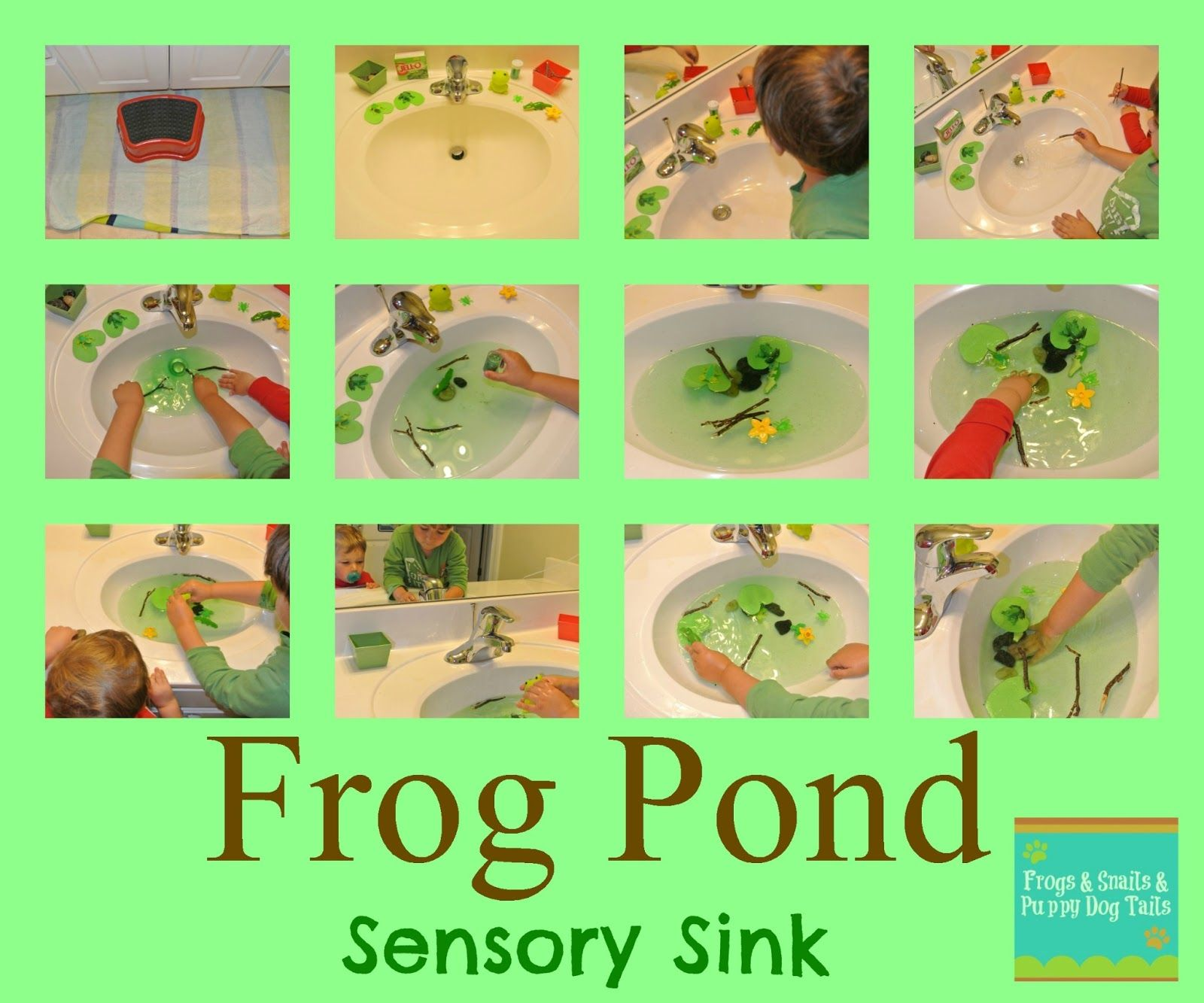 Frog Pond Sensory Sink Kid Activity Toddler Activity