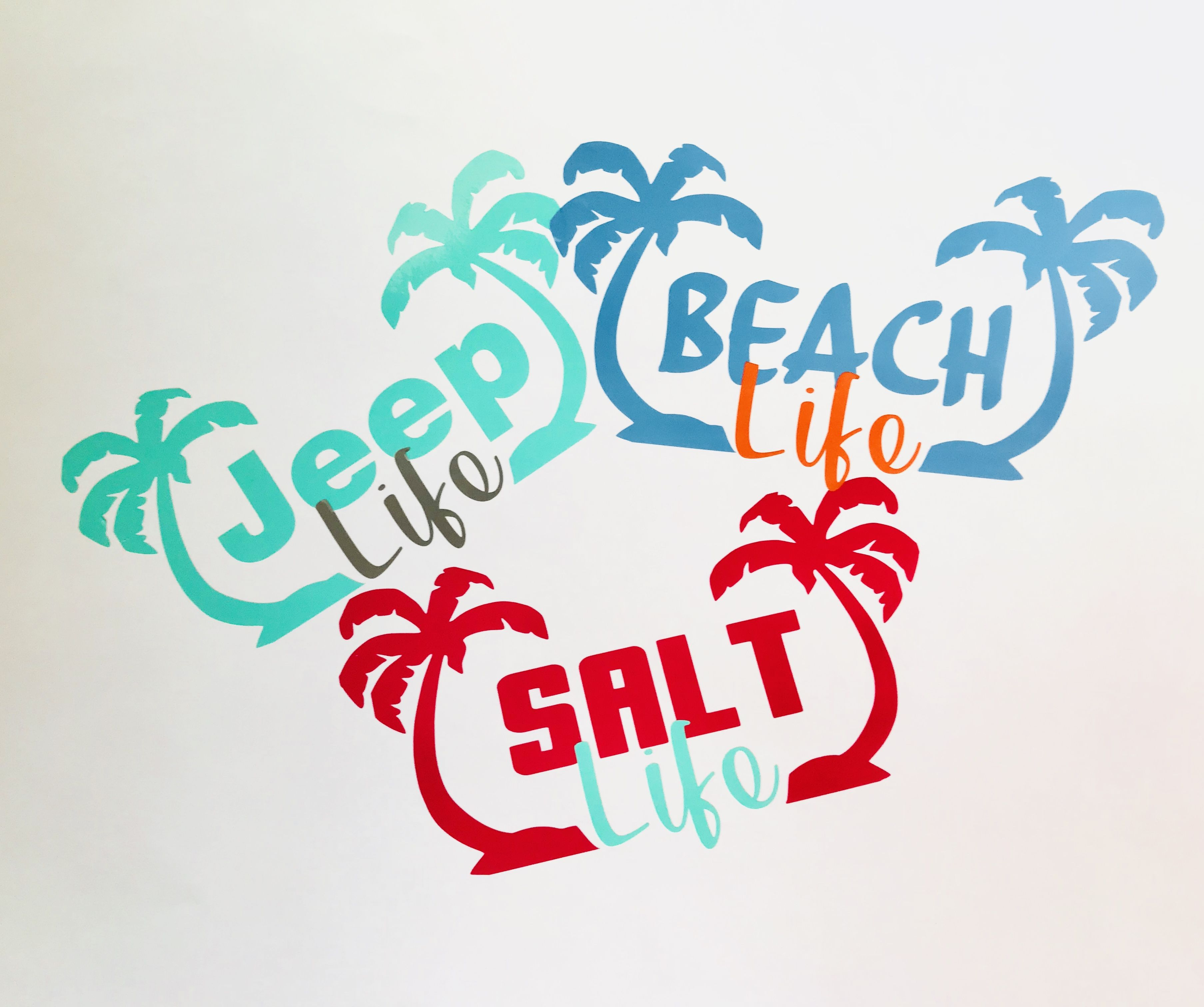 Summer decals jeep lifebeach lifesalt water ocean fun custom stickers www etsy com shop southcoastvinylusa
