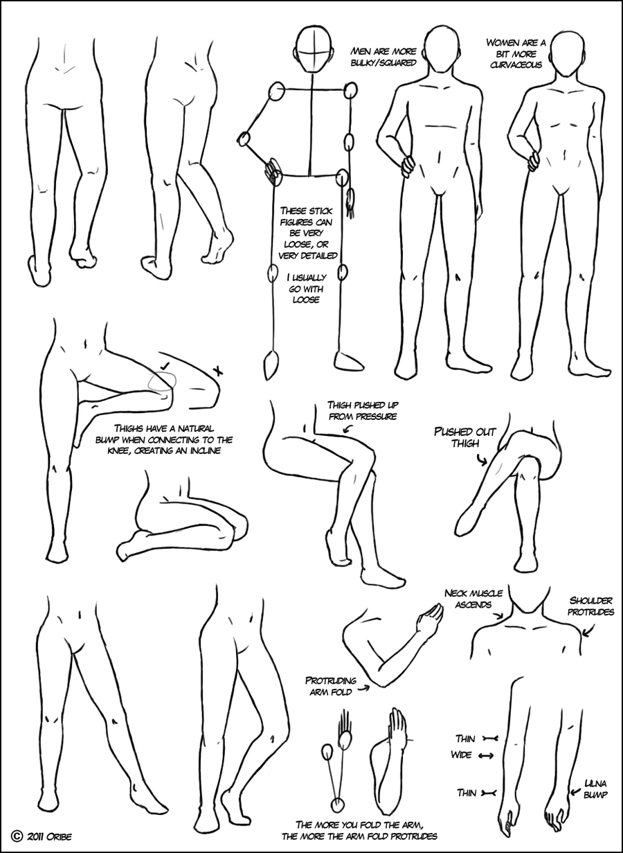 Leg Tutorial By *dersketchie My Tutorial For Legs And Some Of The Body!