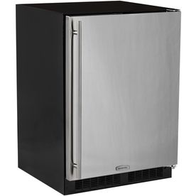 MARVEL Undercounter 5.1-cu ft Counter-Depth Built-In Compact Refrigerator (Stainless Steel)