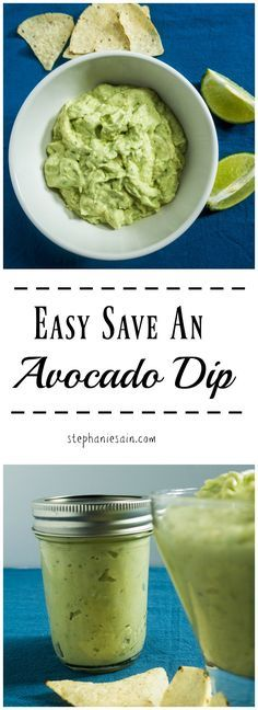Easy Save An Avocado Dip is the perfect accompaniment for chips, veggies, sandwiches and so much more. Gluten Free & Vegetarian.