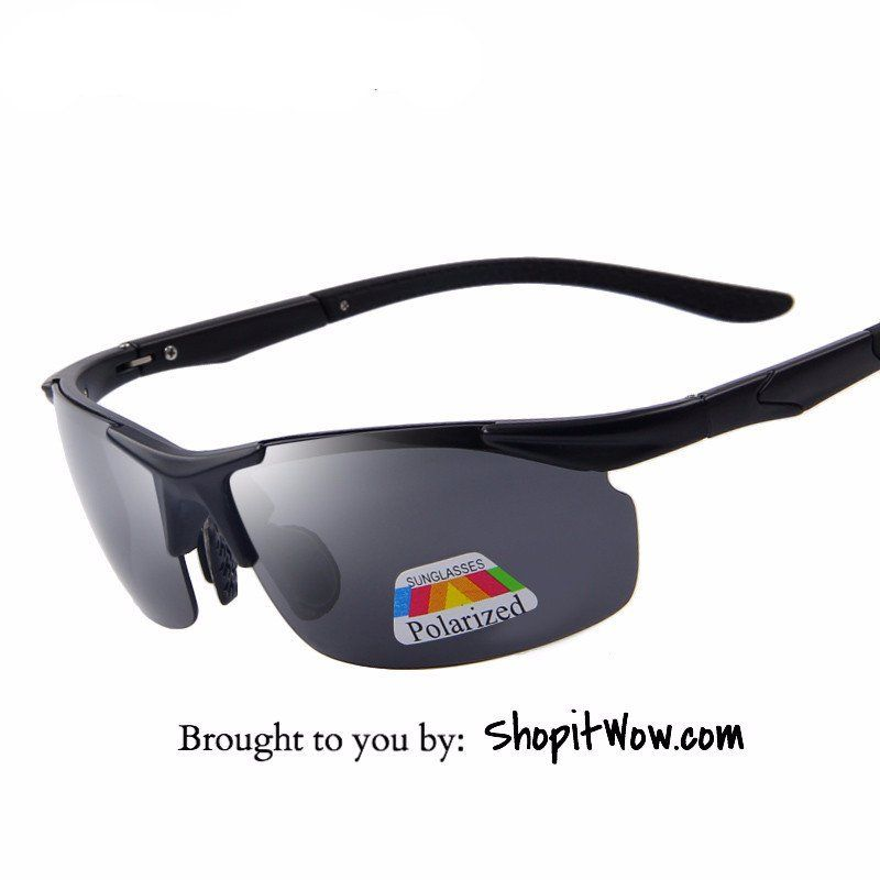 Mens Sport Sunglasses 100% Polarized, Driving, Hiking, Cycling Eyewear