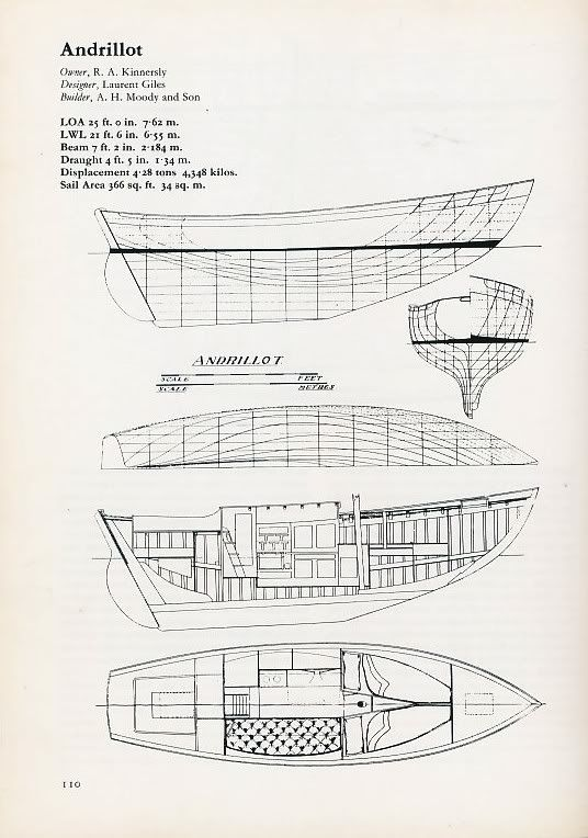 Vertue Line Drawings And General Building Spec Boat