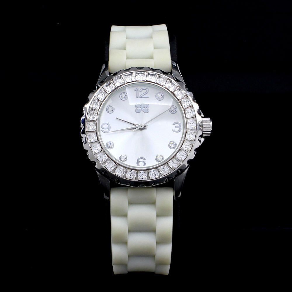 HSN Curations with Stefani Greenfield Crystal Bezel Sporty White Strap Watch #CurationswithStefaniGreenfield #Fashion #Christmas