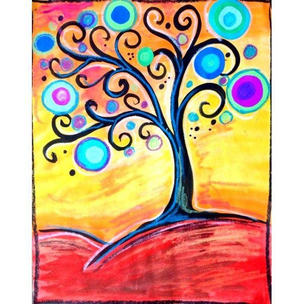 Arbre d 39 automne la westcoast activit s peinture for Art et artiste