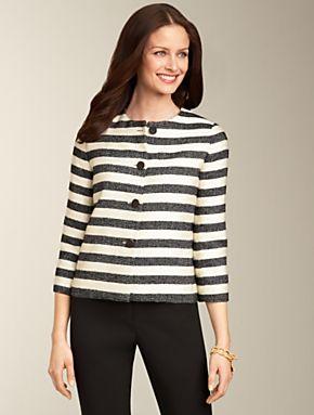 Talbots - Cabana-Stripe Jacket